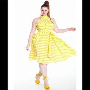 Jibri Striped Flare Dress